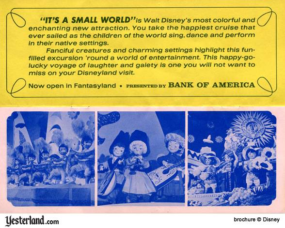 Scan of Disneyland '66 Brochure, it's a small world