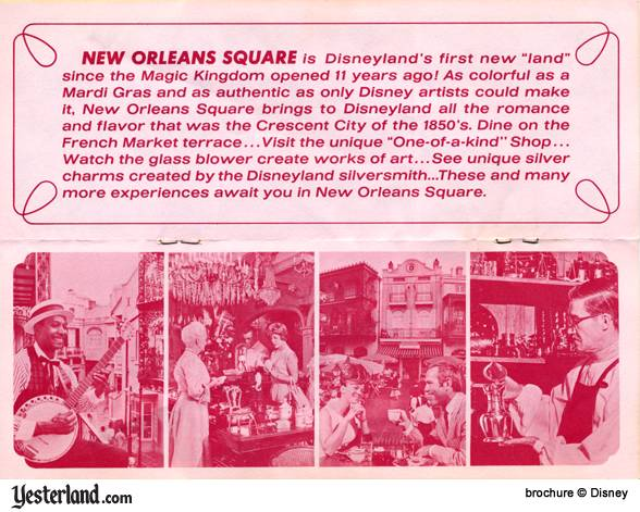 Scan of Disneyland '66 Brochure, New Orleans Square