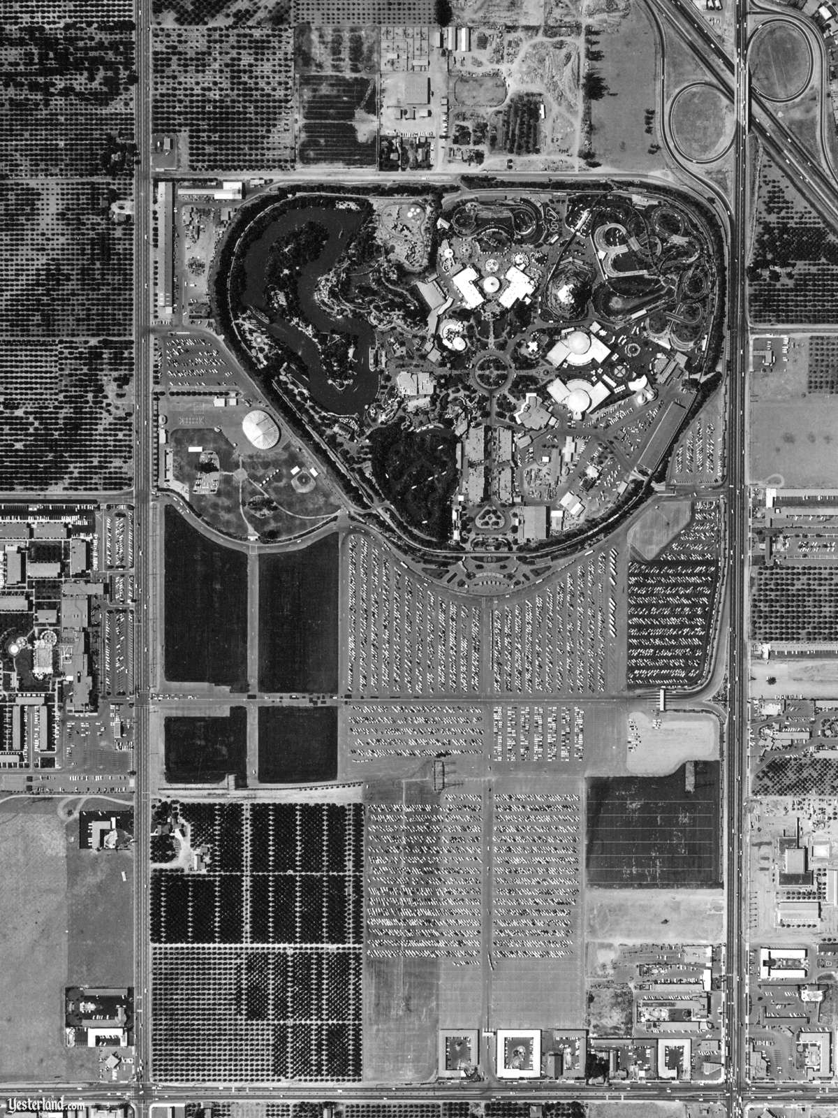 Disneyland from Above in June 1960 (1200 x 1600)