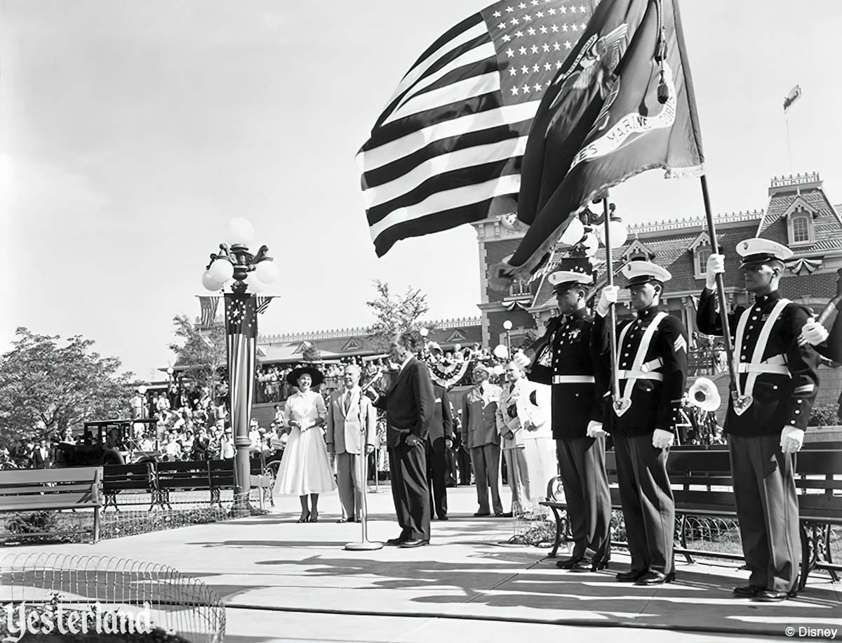 Disneyland dedication, Disneyland, 1955