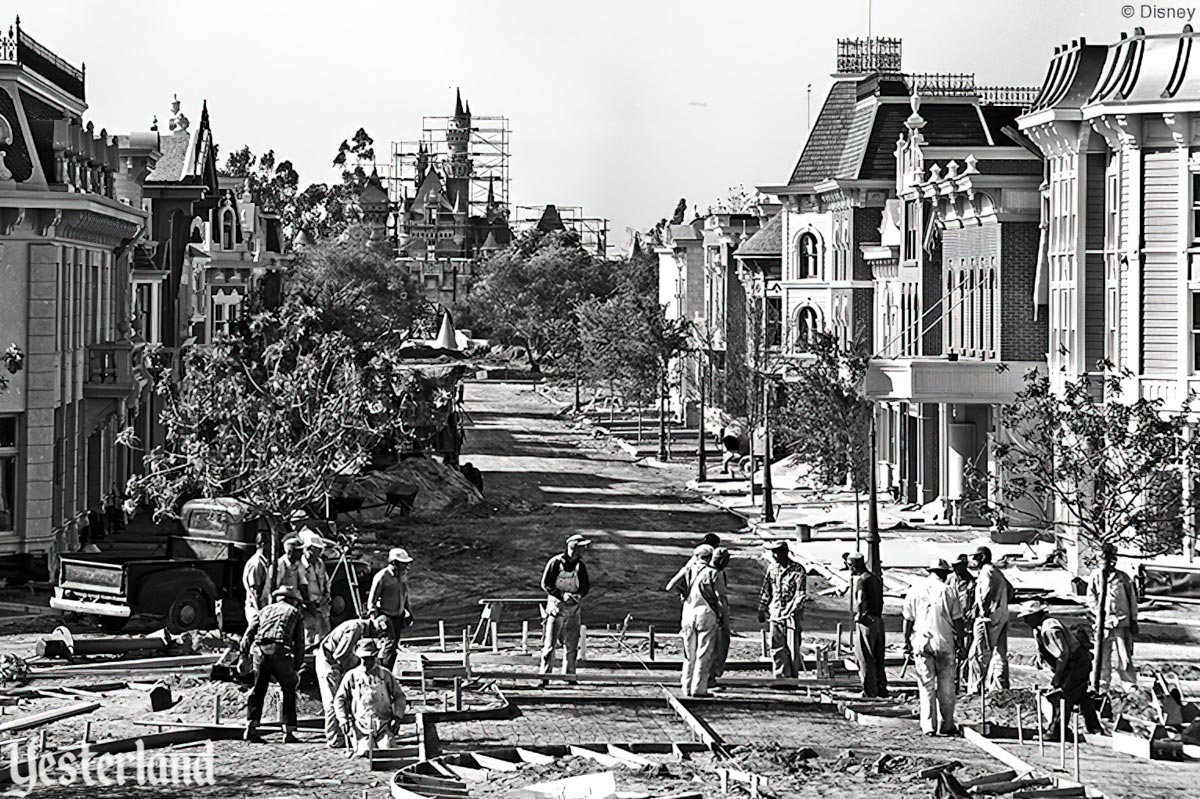 Disneyland construction in 1955