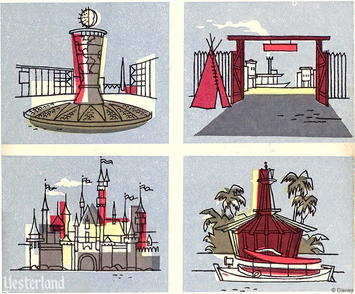 Art on a September 1955 Disneyland brochure