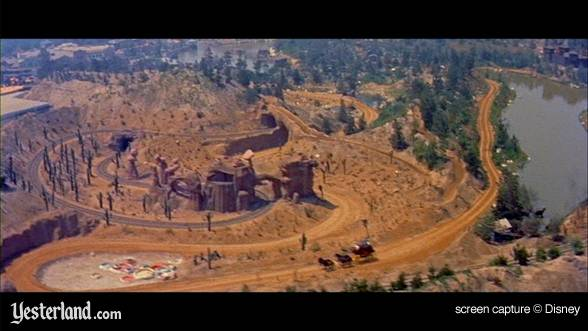 Flyover of Frontierland from the DVD