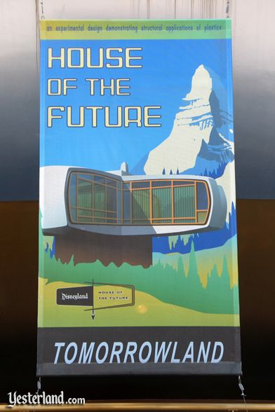 Photo of House of the Future on banner in 2009