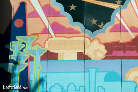 Photo of House of the Future in mural