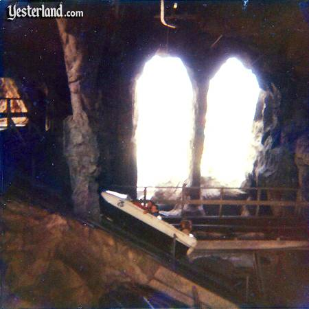 Photo of Matterhorn interior with bobsled ascending a lift hill