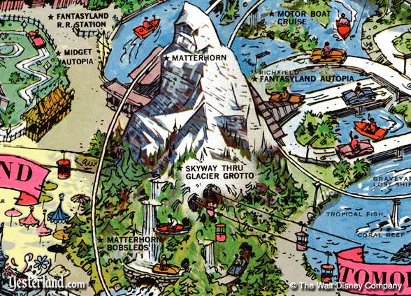 Excerpt of Disneyland map from 1962