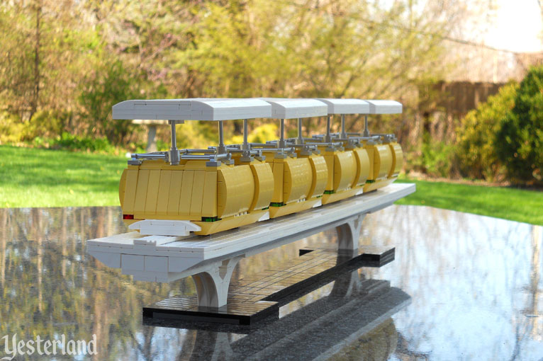LEGO model of Disneyland's PeopleMover