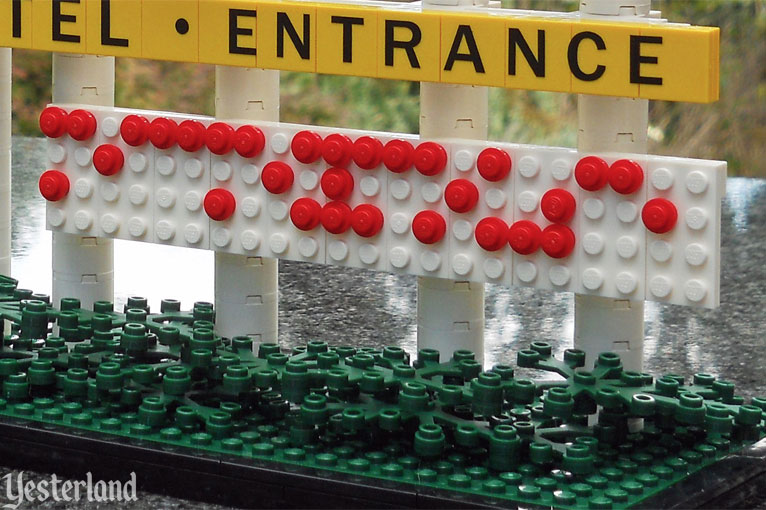 LEGO model of Disneyland's iconic Harbor Blvd. sign