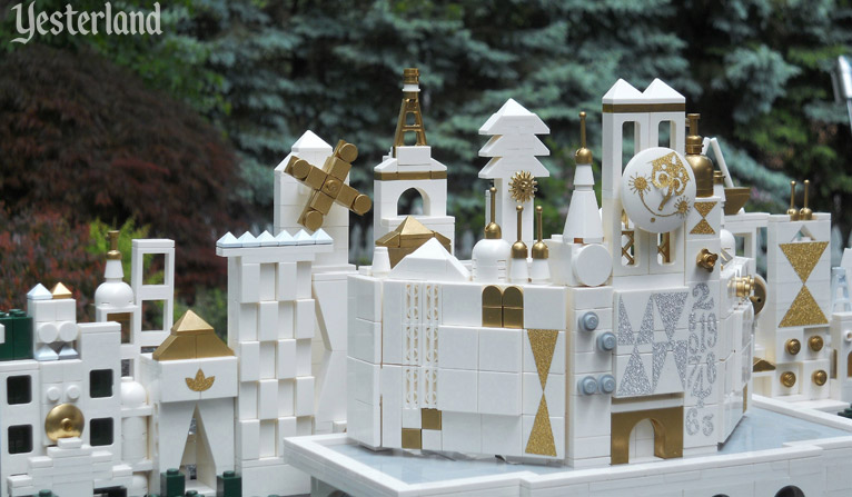 "LEGO model of Disneyland's ""it's a small world"""