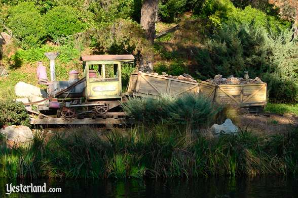 Photo of an abandoned Mine Train