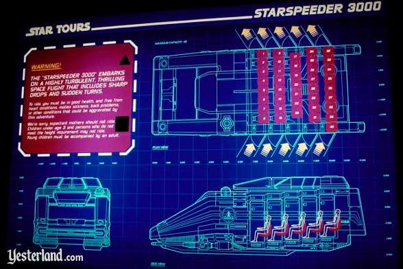 Photo of a Star Tours informational sign