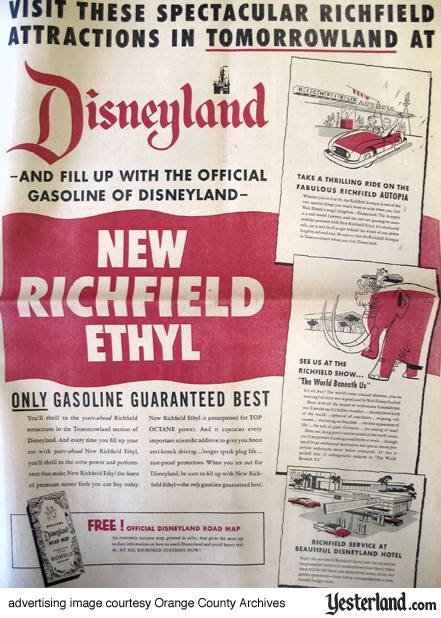 Richfield Oil Co. advertising for Disneyland 1955