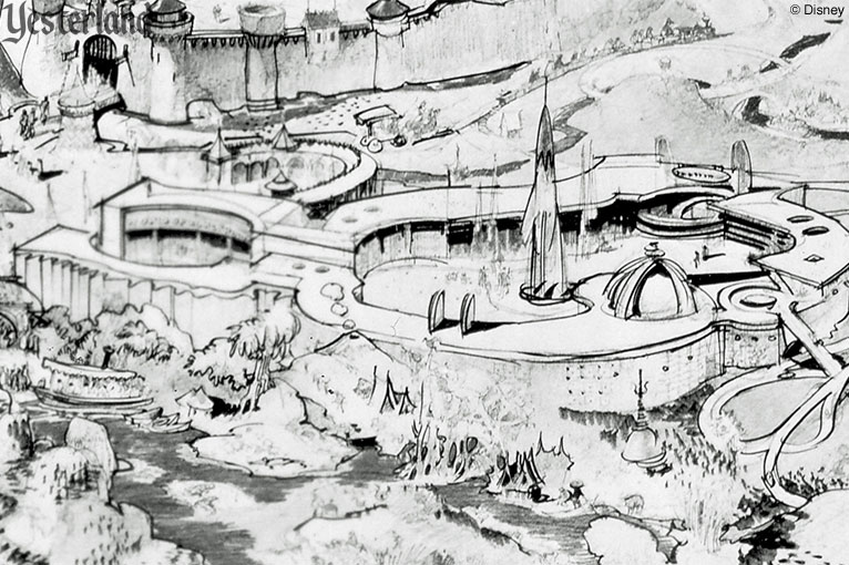 detail from Herb Ryman Disneyland drawing, 1953