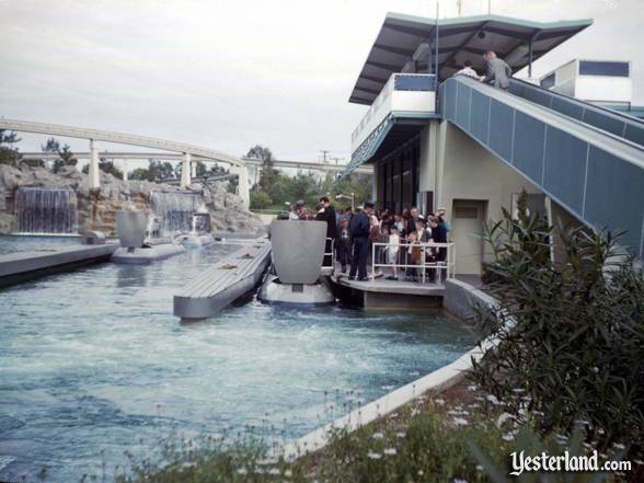 Photograph of guests boarding the new Submarine Voyage