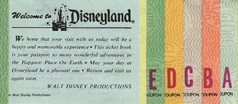 Disneyland ticket book