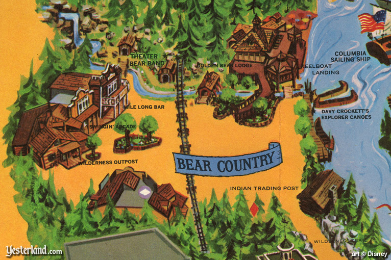 photos for an article about Bear Country at Yesterland.com