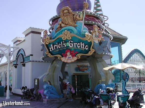 Photograph of Ariel's Grotto with strollers in front