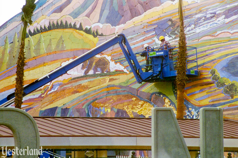 Installation of Ceramic Mural at entrance to Disney's California Adventure