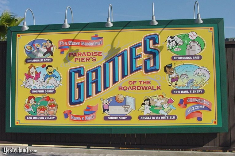 Billboard for Games of the Boardwalk at Disney's California Adventure
