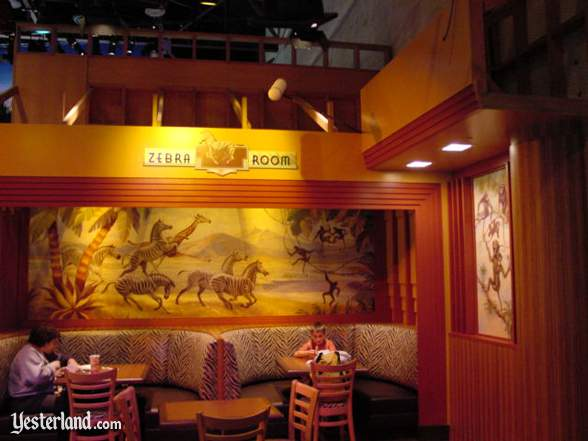 Photograph of Zebra Room seating at Hollywood & Dine