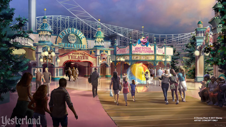 Concept art for Pixar Pier at Disney California Adventure