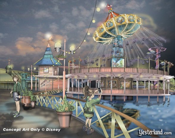 Disney concept art for Silly Symphony Swings