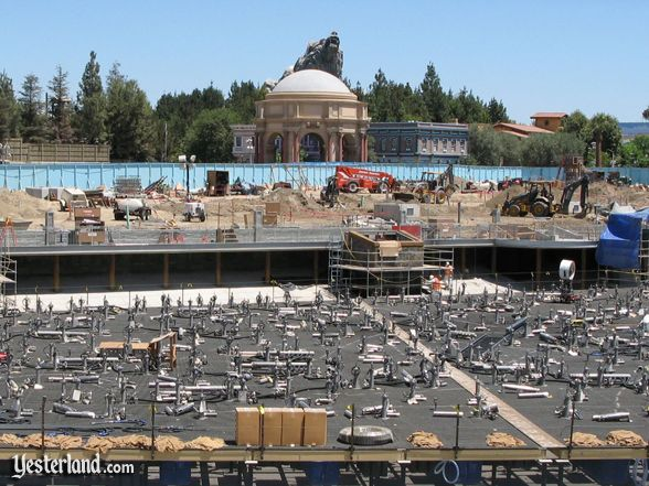Paradise Pier construction in August 2009