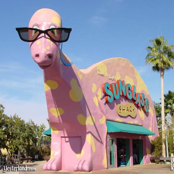 Photo of Sunglass Shack exterior, pink: 2002 by Allen Huffman.