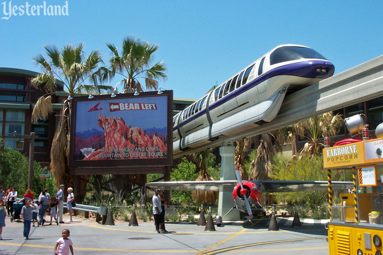 Condor Flats billboard, aircraft, and Monorail