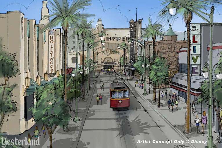 Disney concept art for an overhaul of Hollywood Blvd. (2007)