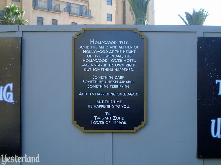 Construction of The Twilight Zone Tower of Terror at Disney's California Adventure