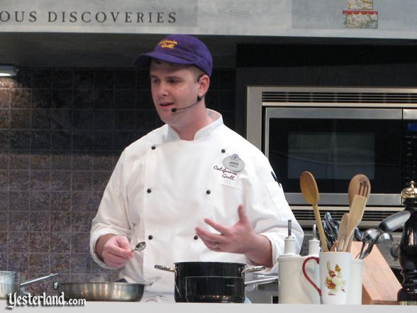 Chef at culinary demo, Epcot Food and Wine Festival, 2010