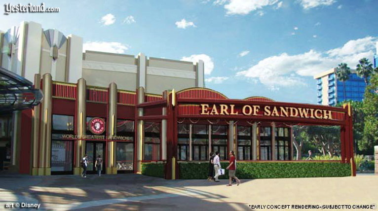 Rendering of Earl of Sandwich at Downtown Disney, Disneyland Resort