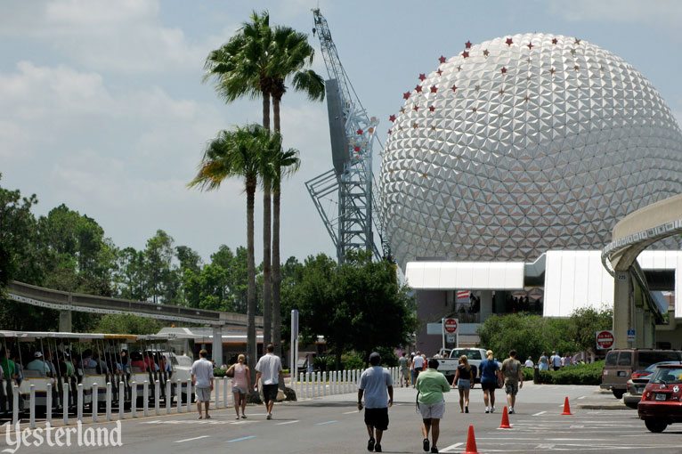 Epcot Icon Tower removal on August 4, 2007