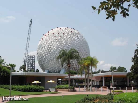 Photo of Epcot Icon Tower removal on August 15, 2007