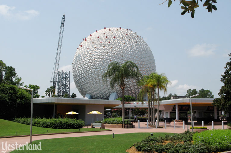 Epcot Icon Tower removal on August 15, 2007