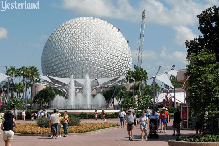 Epcot Icon Tower removal on August 18, 2007