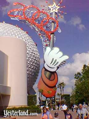 Photo of Epcot Icon Tower with 2000 sign