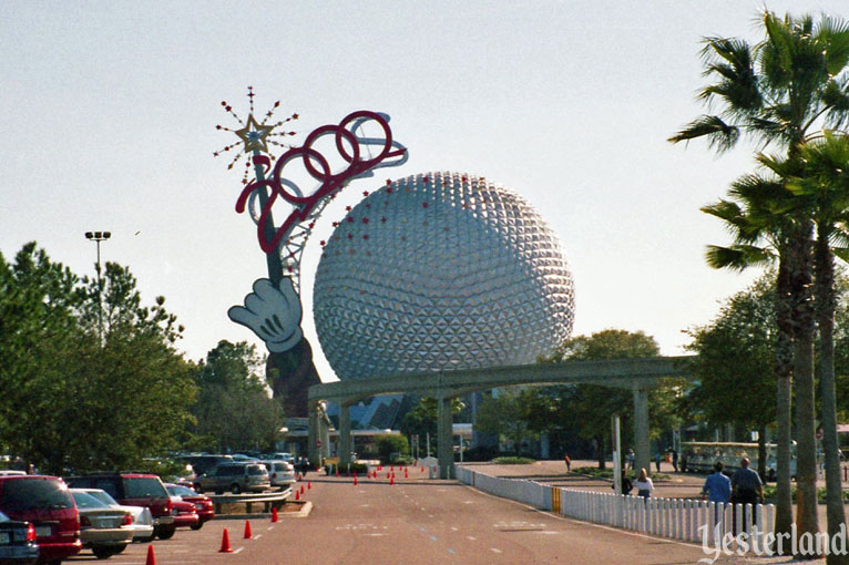 Epcot Icon Tower with 2000 sign