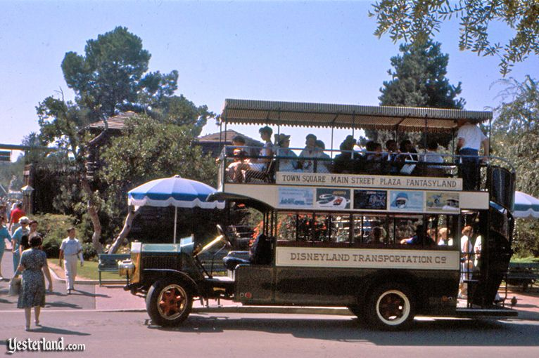 An original Omnibus at Disneyland (1960 photo)