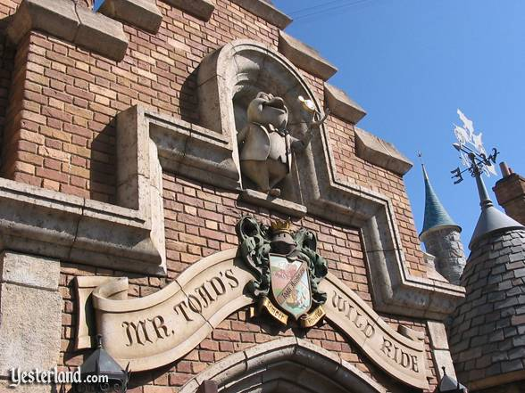 The highly detailed entrance to 'Mr. Toad's Wild Ride'