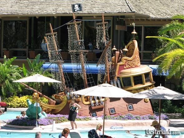 Captain Hook's Pirate Ship at the Disneyland Hotel in Anaheim