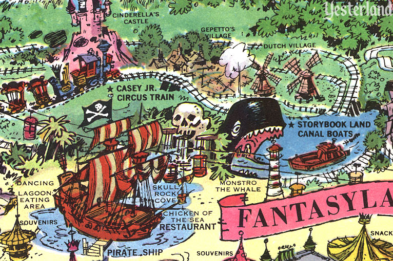 Detail from the souvenir map of Disneyland, 1964
