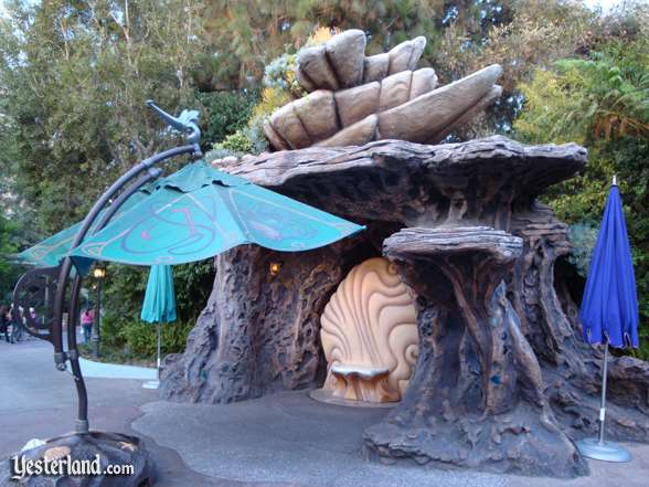 Ariel's Grotto without Ariel at Triton's Garden, Disneyland: 2008, Chris Bales
