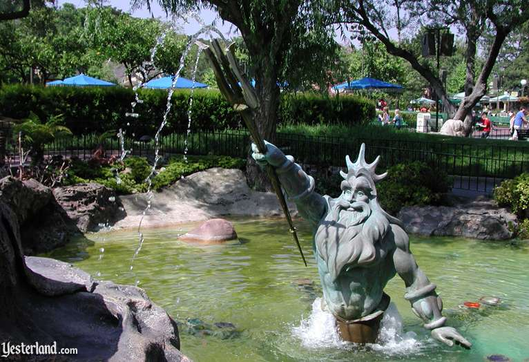 Triton sculpture at Triton's Garden, Disneyland: 2006, by Werner Weiss