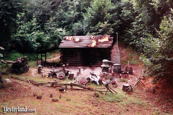Photo of Burning Settler's Cabin in Disneyland (1989)