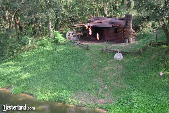 Photo of Burning Settler's Cabin at Walt Disney World