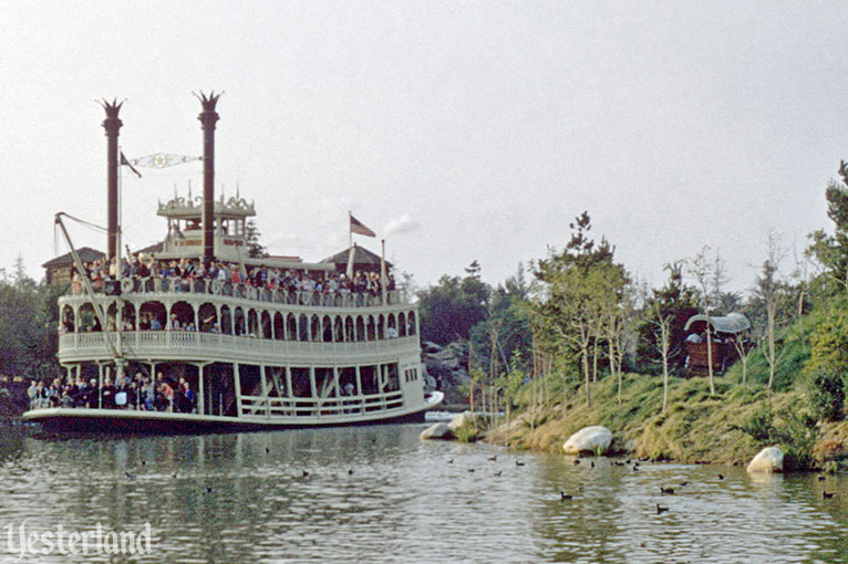 Mark Twain and Conestoga Wagons at Disneyland