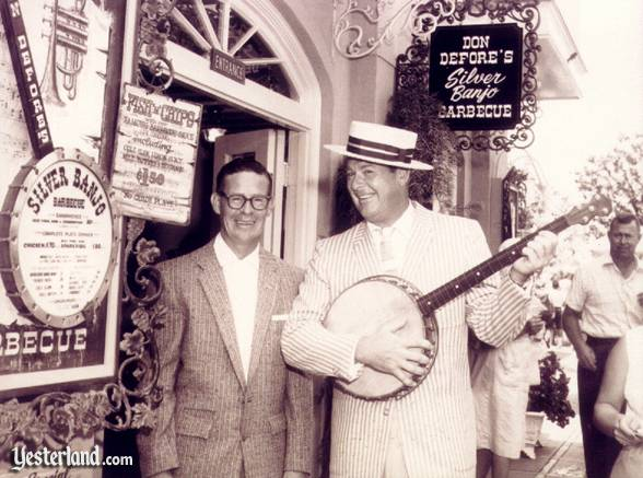 Photo of Don DeFore's Silver Banjo